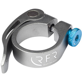 Cube RFR attache de selle 31,8 mm avec dispositif de fixation rapide, grey/blue